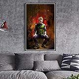 yhyxll Joker Joaquin Phoenix Heath Ledger Film Comics Wandkunst Malerei Druck Auf Leinwand Poster Bilder Home Deco E 50X70 cm