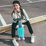 ENKEEO 57cm Mini Cruiser Board Skateboard mit stabilen Deck 4 PU-Rollen für Kinder, Jugendliche und Erwachsene - 6