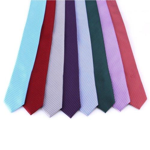 DonDon Cravate 5 cm - fini à la main et plusieurs couleurs Rose Bleu