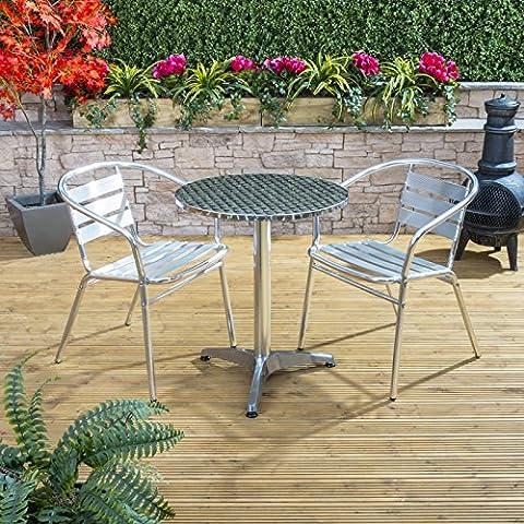 Nice Café Round Lightweight Aluminium Bistro Outdoor Garden Furniture Table