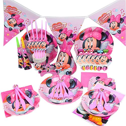 Disney-Minnie-Mouse-Anniversaire-de-mariage-dcoration-de-table-Cartoon-Lot-de-16Kit-de-coupe-Shop-Bleu-clair