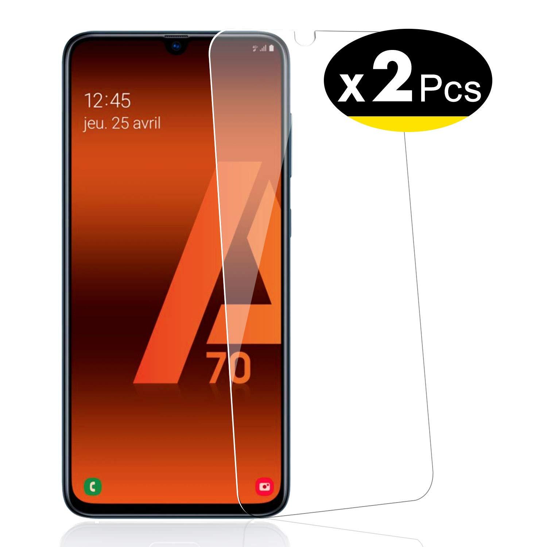 NEW'C 2 Unidades, Protector de Pantalla para Samsung Galaxy A70 Vidrio Cristal Templado