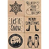 Dovecraft Mounted Christmas Stamp Assortment 48/Pkg-6 Designs/8 Each, Msrp $2.99 Each