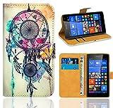 FoneExpert® Microsoft Lumia 535 Handy Tasche, Wallet Case Flip Cover Hüllen Etui Ledertasche Lederhülle Premium Schutzhülle für Microsoft Lumia 535 (Pattern 9)