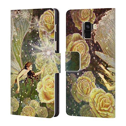 Head Case Designs Offizielle Myles Pinkney Karamellbonbon Fantasy Brieftasche Handyhülle aus Leder für Samsung Galaxy A8 (2018)
