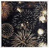 """'Diseño de servilletas""""Happy New Year festiva de fiesta–Mesa de decoración festiva/Decoración Celebración de fin de año/Año de cambio/Diseño de fuego de de"""