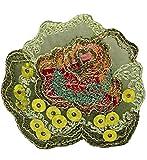 alles-meine.de GmbH 1 Stück _ Bügelbild -  Edle Rose / Blume - grüne Pailletten  - 5,4 cm * 5 cm..