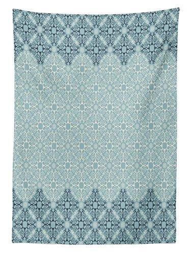 Yeuss Marokkanischer Tischdecke Outdoor, Modernes Design Eastern Ethnische Stil Formen Ivy Rahmen in Zwei, Dekorative Waschbar Picnic Tischdecke, Seafoam, 132,1x 177,8cm, 60