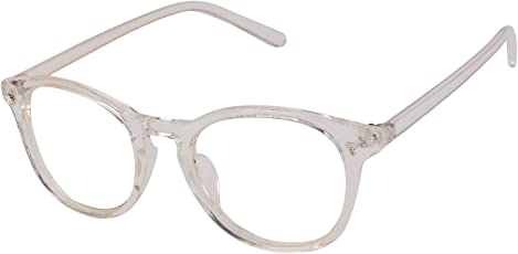 VESPL Full Frame Round Transparent Men's and Women's Spectacle (S-0067, Clear)