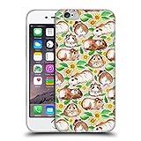 Offizielle Micklyn Le Feuvre Meerschweinchen Und Gänseblümchen Und Aquarell Muster 2 Soft Gel Hülle für Apple iPhone 6 / 6s