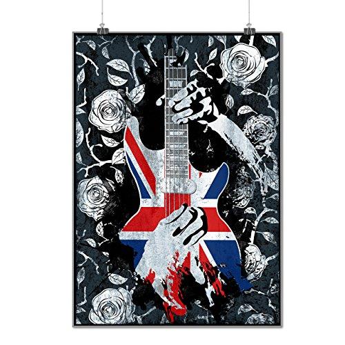 uk-music-guitar-life-black-roses-matte-glossy-poster-a3-42cm-x-30cm-wellcoda