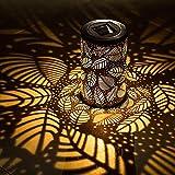 Einsgut Lanterna Solare IP44 da Esterno Impermeabile Decorazione da Giardino Lampada da Notte sospesa per Giardino Esterno Prato Cortile Decorazione Cortile (B)