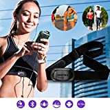 Premium Herzfrequenz Messer Herzfrequenz-Sensor mit Brustgurt Herzfrequenz-Messgerät ANT+ Bluetooth 4.0 Daten-Übertragung an Android, iPhone Smartphones Wasserdicht für Wahoo, Endomondo, Runtastic pro, Fitness