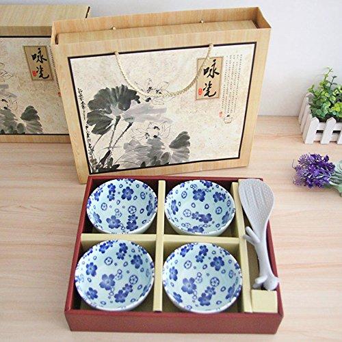 MEICHEN Ciotola in ceramica cucchiaio dell'insieme di regalo creativo creativo modello ciotola mestolo cucina ristorante Dinnerware 5 pezzi regalo , 5 head