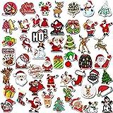 Devlope Natalizi Stickers Natale Adesivi Etichette Adesivi Chiudi Pacchetti Natale Decorative per Sacchetto di Regalo Compleanno per Laptop, valigie, Skateboard, Moto, Snowboard