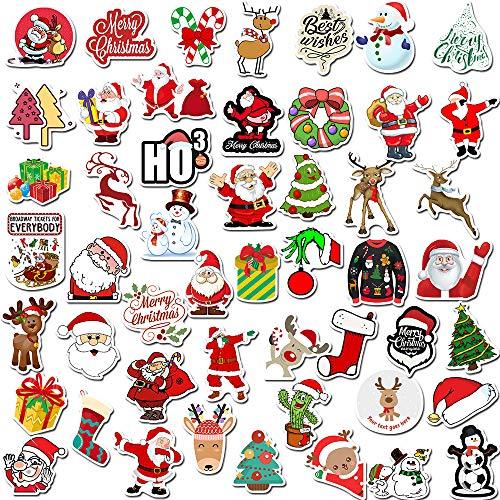 Devlope Natalizi Stickers Natale Adesivi Etichette Adesivi Chiudi Pacchetti Natale Decorative per Sacchetto di Regalo Compleanno per Laptop valigie