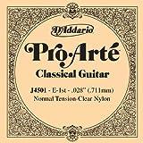 D\'Addario Corde seule en nylon pour guitare classique D\'Addario Pro-Arte J4501, Normal, première corde