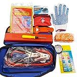 Kit d'urgences de WSS- Lot de 12 articles d'urgence de voyage UE, en cas de panne de voiture, triangles de signalisation de véhicule, van, caravane