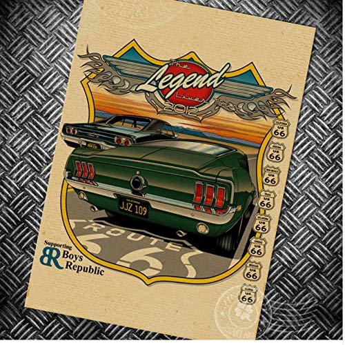 Bienvenue à la Ville de Papier affiche Vintage café Impression et Photo décoration de la Maison Route rétro Wall Art peinture
