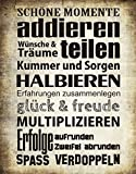 'Schöne Momente ' Metallschild / Blechschild / Dekoschild / Wandschild / wetterfest / Innenbereich / Außenbereich /Motivation/ Vintage