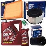 1x Bosch+SCT Filter Set Inspektionspaket 1x 6L Mannol Combi LL 5W30 1x Filter, Innenraumluft ( Bosch ) 1x Oelfilter ( Bosch ) 1x Luftfilter ( SCT ) 1x Mannol Oelwechselanhaenger