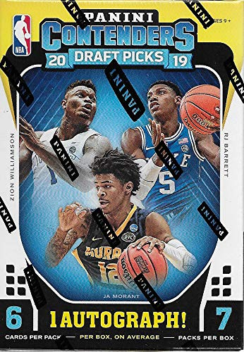 2019 2020 Panini Contenders Draft PICKS Basketball-Serie ungeöffnete Blaster Box mit einer Autogrammkarte und einer Chance für Zion Williamson