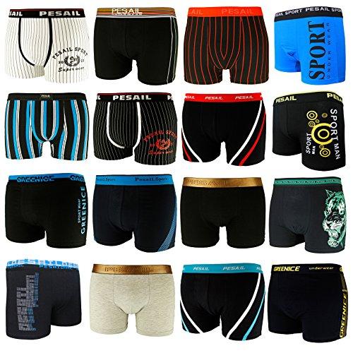 10er Pack L&K Herren Boxershorts Unterwäsche Gemischt Farben/Muster YHUVA2 Gr. 2XL