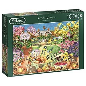 Jumbo Falcon de Luxe Autumn Garden 1000 pcs Puzzle - Rompecabezas (Puzzle Rompecabezas, Flora & Fauna, Adultos, Niño/niña, 12 año(s), Interior)