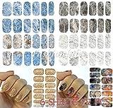 Nail Sticker set #264 : Water Decals Nail Art 6 sheets 72 pcs Water Transfer Stickers Nail Sticker set #264 Nail Sticker Tattoo - FashionDancing