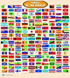 LAMINATED FLAGS OF THE WORLD LEARNING KIDS EDUCATIONAL POSTER WALL CHART | SCHOOL TYPE TEACHING POSTER
