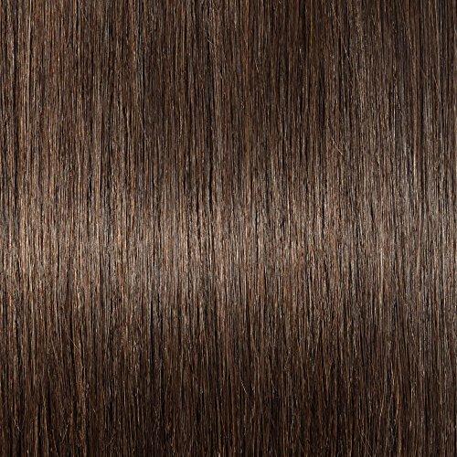 40-55cm Extension Capelli Veri con Clip - 40cm/65g #2 Marrone Scuro- 8 Fasce 100% Remy Human Hair Capelli Naturali Lisci