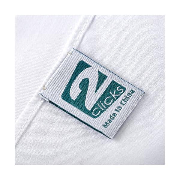 2Clicks - Fazzoletto da uomo di Dapper Pocket Square in 100% cotone, vari colori 5 spesavip
