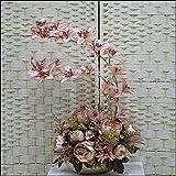 ZHUDJ Maple Leaf Lounge Die Einhaltung der Rose Esstisch Künstliche Blume Kit Falsch Eingerichtete Seide Spinnen Ornamente Topfpflanzen Vasen, Champagner Farbe Maple Leaf