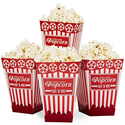 "Preisvergleich Produktbild Andrew James - 12 Popcorn-Tüten ""Kino"" - 16cm x 11cm"