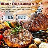 Grillthermometer TOPELEK 2 Stücke Fleischthermometer Digitale Küchenthermometer Haushaltsthermometer Bratenthermometer sofort lesbar mit Langer Sonde, LCD-Bildschirm. Ideal für BBQ,Baby-Ernährung. Test