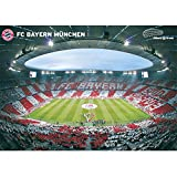 FC Bayern München Poster Allianz Arena Innenraum, Plakat FCB - Plus Lesezeichen I Love München