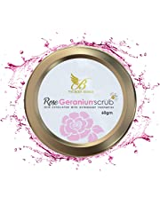 The Body Avenue Rose Geranium Face Scrub with Astringent Properties for Women and Men - 60gm