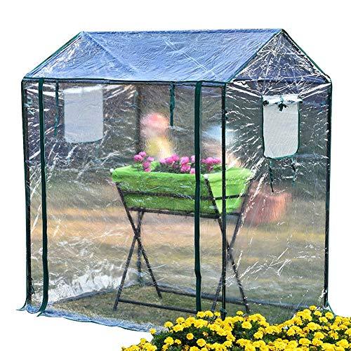 Haipeng-serra da giardino tunnel in crescita verdura pianta copertina plastica pvc per controllo della temperatura cornici fredde (colore : pulire, dimensioni : 130x90x150cm)