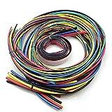 AUAUDATE 55m Surtidos Encogimiento Calor Envoltura Cable Tubos Pack 11 Sizes & 6 Colors