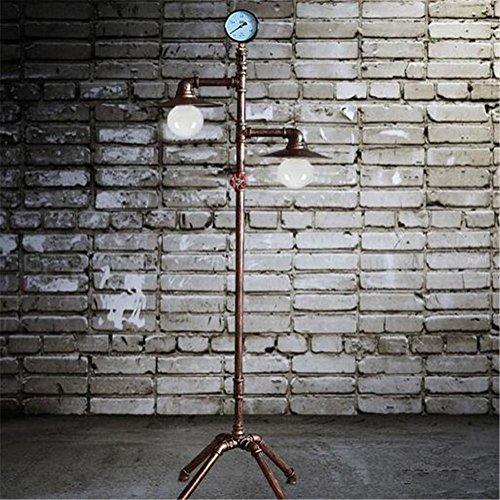 KDLD Stehleuchten ® Stehlampe Lesen Torchiere Stehlampe Schlafzimmer Wohnzimmer Antike Bügeleisen Wasserpfeifen Stehlampe
