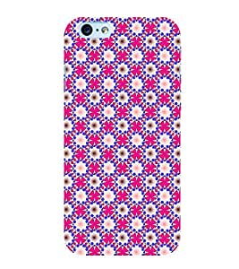 Fuson Premium Back Case Cover Floral Pattern With Blue Background Degined For Apple iPhone 6S