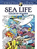 Creative Haven Sea Life Color by Number Coloring Book (Creative Haven Coloring Books)