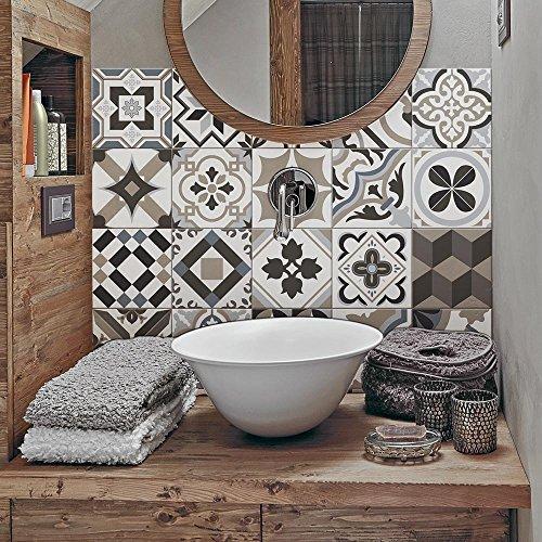 PS00089 – Braga – Adhésive décorative à Carreaux pour Salle de Bains et Cuisine Stickers carrelage – Collage des tuiles adhésives