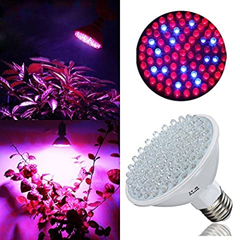Bloomwin Ampoule de Croissance, 2pcs LED E27 Dimmable 4.5W AC220V Bleu et Rouge Lampe Floraison Horticole hydroponique Ampoule pour plantes fleurs en intérieur