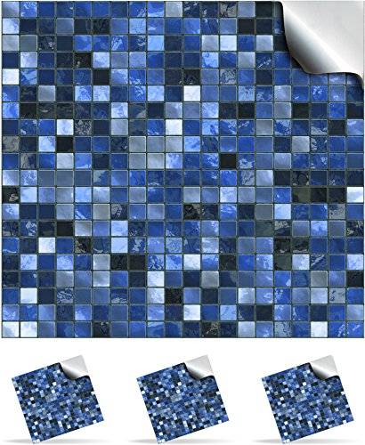30 Midnight Blue - Printed in 2d Kitchen / Bathroom Tile STICKERS For 150mm (TP3 - 6 inch) Square Tiles – Directly From: TILE STYLE DECALS, No Middleman (Full Pack of 30)