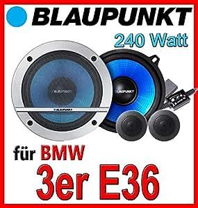 BMW 3er E36   Blaupunkt CX130   13cm Lautsprecher Komponentensystem   Einbauset