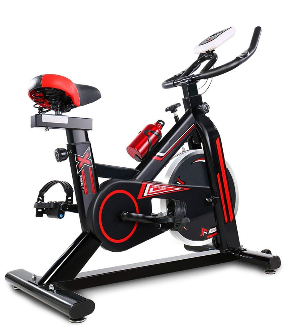 61GWQsoum4L - YHSport Indoor Cycling Exercise Bike, F-Bike Home Trainer Flywheel Adjustable Magnetic Resistance, 2-Piece Crank, 5-Function Monitor, Emergency Stop System, Ergonomic Fully Adjustable Seat