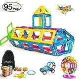 Condis 95 Piezas Bloques de Construcción Magnéticos para niños,...