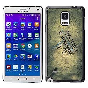 Omega Covers - Snap on Hard Back Case Cover Shell FOR SAMSUNG GALAXY NOTE 4 - Typography Secret