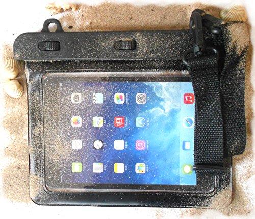 PRESKIN - Wasserfeste Taschen bis 8.0\'\' Zoll Display, Wasserdichte Tablet Schutzhülle (Beachbag8.0 Black) / PC Hülle mit Touchscreen Funktion wie Schutzfolie/Displayfolie, Tablethülle Waterproof